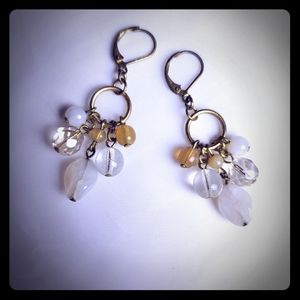 Beige and Gold Earrings